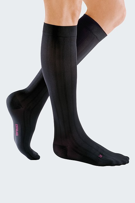 black compression stockings for men